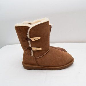 Bear Paw Boots 8 Abigail Slip On 2 Buttons Winter